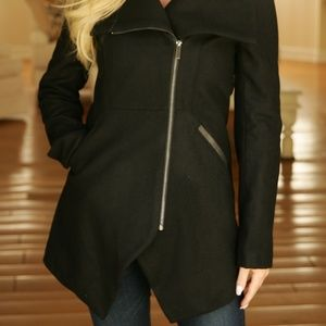 Women's French Connection Asymmetrical Wool Coat